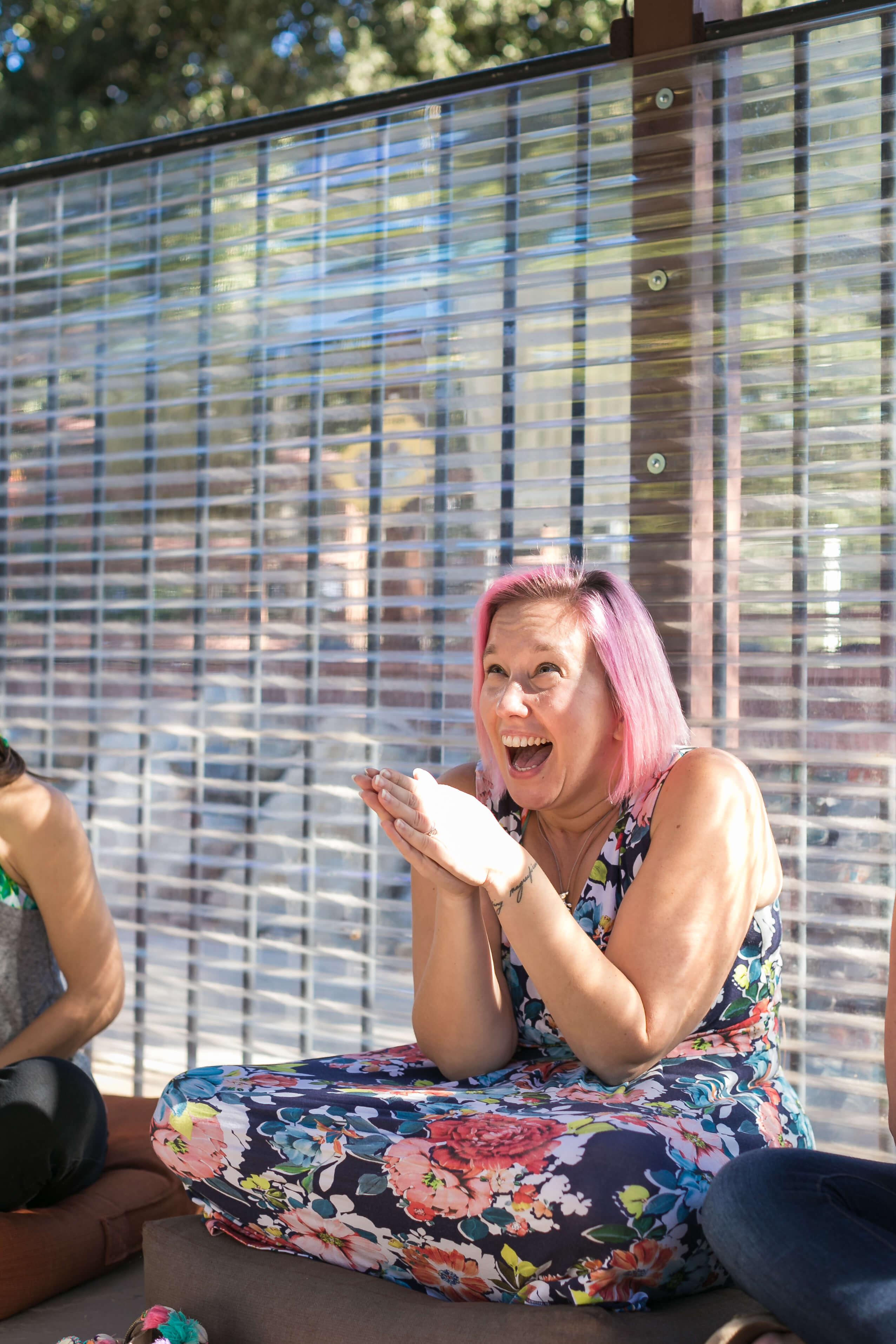 excited Kristen