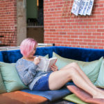 Kristen reading