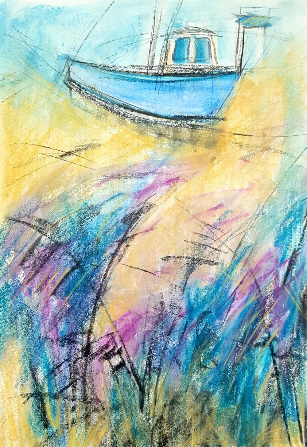 Tara Leaver painting