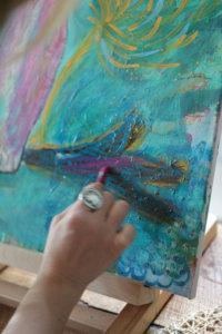 show work painting Kristen Kalp